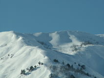 Hakuba Mountains. Slopes at Hakuba mountain area in Japan Stock Images