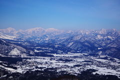 Hakuba village in winter Royalty Free Stock Photos