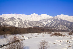Hakuba village in winter Royalty Free Stock Images