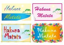 Hakuna Matata Royalty-vrije Stock Fotografie