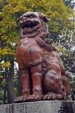 Hakusan Shrine, Niigata, Japan. Lion at Hakusan Shrine, Niigata, Japan Stock Photography