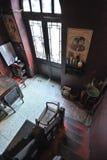 Hal aan oud huis in Peking royalty-vrije stock foto's