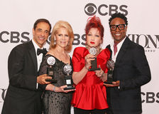 Hal Luftig, Daryl Roth, Cyndi Lauper, and Billy Porter Royalty Free Stock Photography
