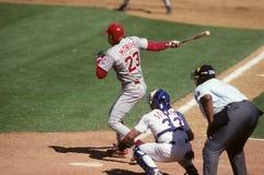 Hal Morris Cincinnati Reds. Hal Morris batting for the Cincinnati Reds Royalty Free Stock Photography