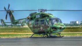 HAL Rudra attackhelikopter som förr är bekant som Dhruvs royaltyfri bild