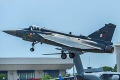 HAL Tejas f?r Indien luftf?r jaktflygplan arkivbild
