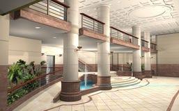 Hal van een gebouw royalty-vrije illustratie
