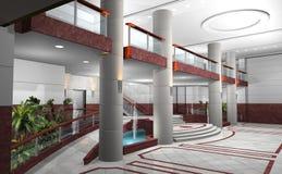Hal van een gebouw in 3D vector illustratie