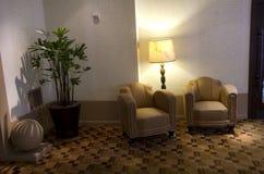 Hal van het luxe de historische hotel stock foto's