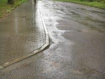 Hal vandringsled i regn Royaltyfria Bilder