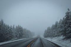 Hal vinterhuvudväg Royaltyfri Foto
