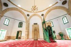 Hala苏丹Tekke -一座历史的寺庙,清真寺在拉纳卡, Cypru 图库摄影
