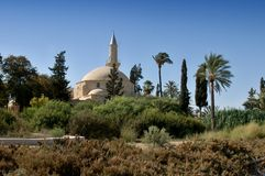 Hala sułtan Tekke Cypr obrazy stock