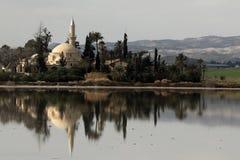 Hala sułtan Tekke Cypr fotografia stock
