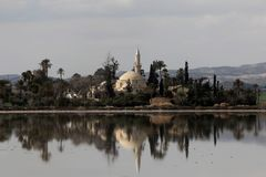 Hala sułtan Tekke Cypr zdjęcia royalty free
