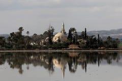 Hala Sultan Tekke Cyprus Fotografie Stock Libere da Diritti