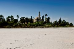 Hala Sultan Tekke Cyprus - salt lake Larnaka Stock Photo