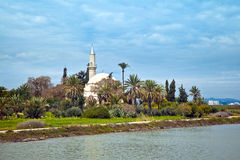 Hala Sultan Tekke mosque Royalty Free Stock Photos