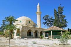 Hala Sultan Tekke Mosque dichtbij Larnaca, Cyprus Stock Fotografie