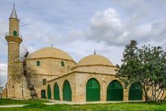Hala Sultan Tekke Mosque, Larnaka, Chipre Imagem de Stock