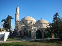Hala sultan tekke mosque by larnaka salt lake Royalty Free Stock Photography