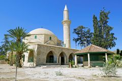 Hala Sultan Tekke Mosque near Larnaca, Cyprus. Stock Photography