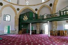 Hala Sultan Tekke Mosque près de Larnaca, Chypre image libre de droits