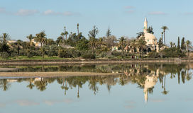 Hala sultan Tekke  Muslim mosque Larnaca Cyprus Stock Photos