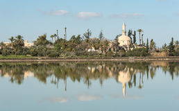 Hala sultan Tekke  Muslim mosque Larnaca Cyprus Royalty Free Stock Photo