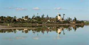 Hala sultan Tekke  Muslim mosque Larnaca Cyprus Royalty Free Stock Photography