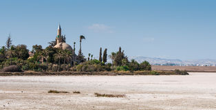 Hala sultan Tekke  Muslim mosque Larnaca Cyprus Royalty Free Stock Photography