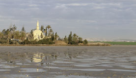 Hala Sultan Tekke muslim temple Royalty Free Stock Photo