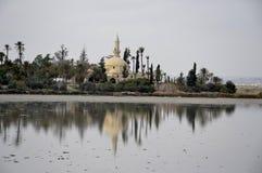 Hala Sultan Tekke nel Cipro Fotografia Stock Libera da Diritti