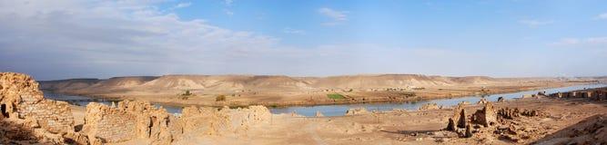 Halabiya sur le fleuve Euphrate photos libres de droits