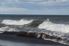 Halaktyr海滩 堪察加 莫斯科 库存图片