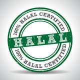 100% Halal certified product label seal. 100% Halal certified product label. vector Royalty Free Stock Images