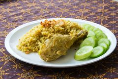Halal food Arab rice Royalty Free Stock Photography