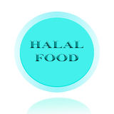 HALAL Food icon or symbol image concept design with business wom Royalty Free Stock Photo