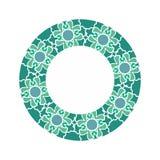 Halal Islamic template symbol. East ornament for emblem. Muslim royalty free illustration