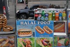HALAL jedzenie VANDORS zdjęcie stock