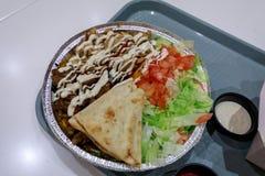 Halal półmisek, jedzenie, zdjęcie stock