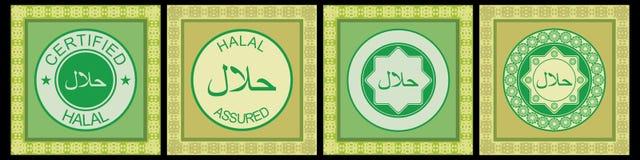 halal rubber stämpel royaltyfri illustrationer