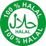 Halal, food and drink sticker stock illustration