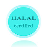 HALAL verklaard pictogram of symboolbeeldconceptontwerp met zaken Stock Foto's