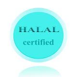 HALAL zugelassenes Ikonen- oder Symbolbildkonzeptdesign mit Geschäft Stockfotos