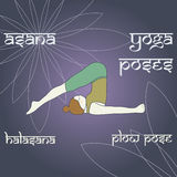 Halasana. Plow pose. Stock Photo