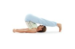 Halasana plow pose #2 Stock Photography