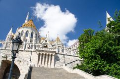 Halaszbastya Fisherman Bastion, Budapest, Hungary royalty free stock images