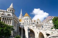 Halaszbastyavisser Bastion, Boedapest, Hongarije royalty-vrije stock fotografie