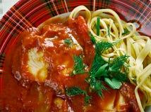 Halaszle paprika-baseou a sopa dos peixes do rio Fotografia de Stock